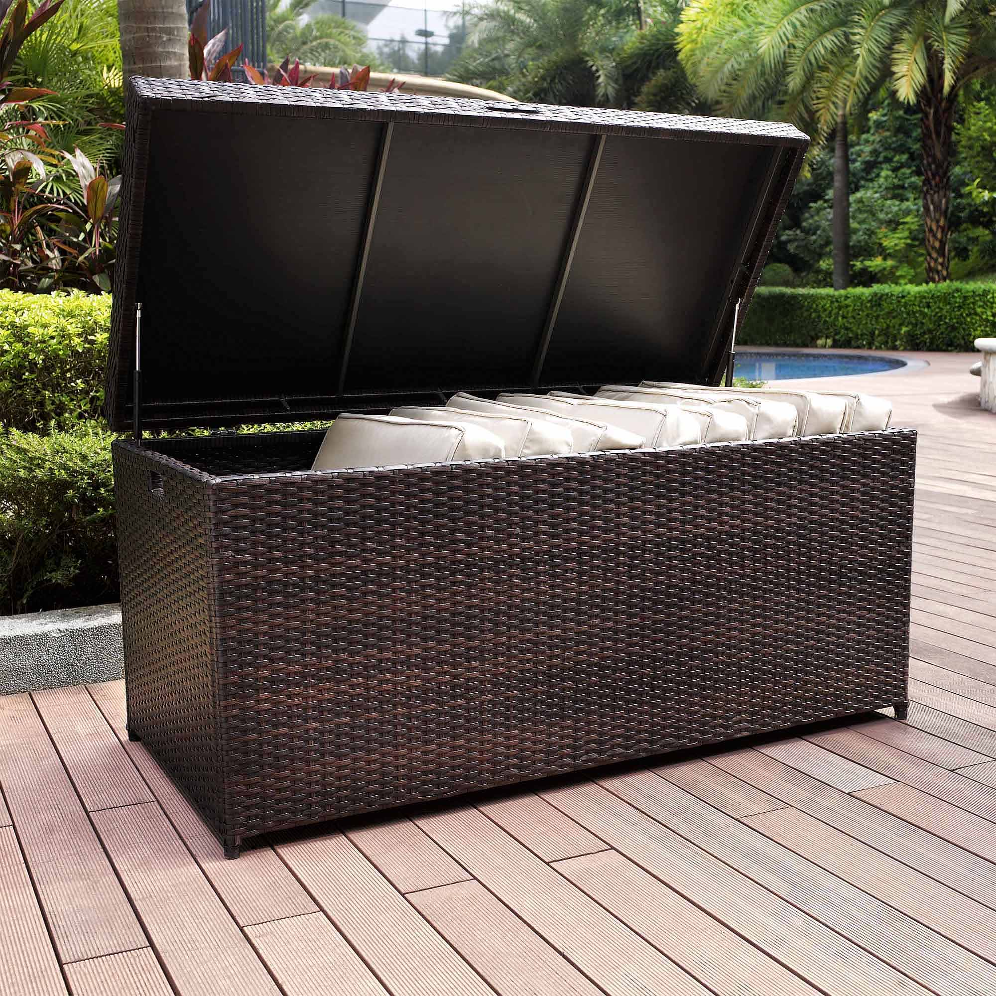 Crosley Furniture Palm Harbor Outdoor Wicker Storage Bin