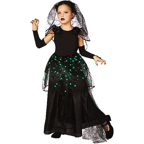 Illuminating Dark Bride Child Dress-Up Costume