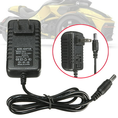 6V 1A Battery Charger Adapter AC/DC Powered For Kids ATV Quad Car Motorcycles Ride On Cars SUV Toy