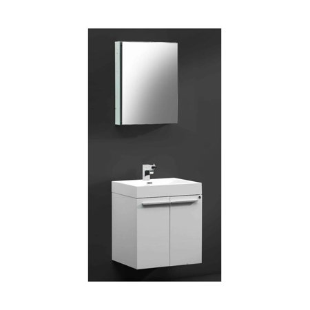 Modern Bathroom Vanity in White Isarus Chrome