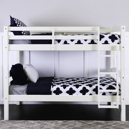 Twin Over Twin Solid Wood Bunk Bed White Multiple Colors