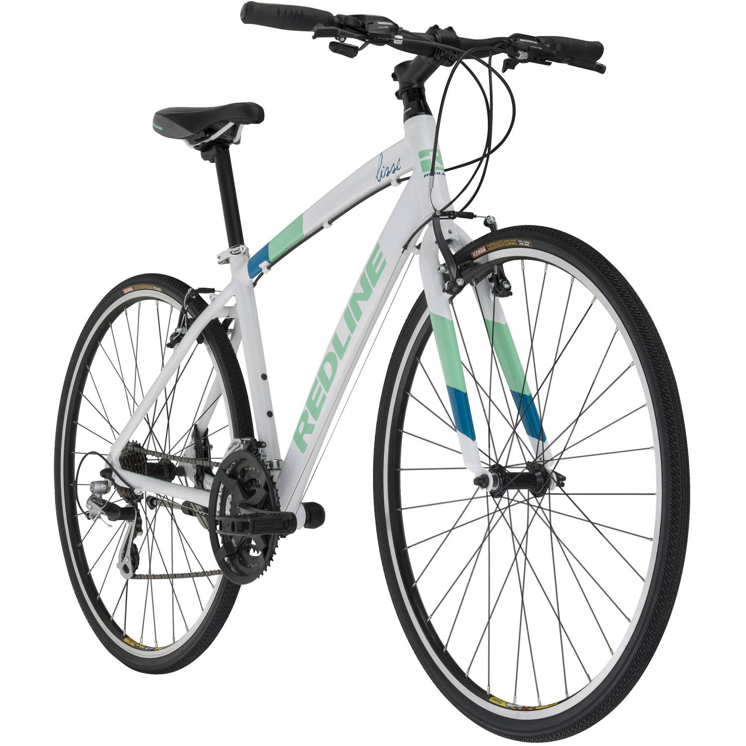 700c Redline Bikes Women's Lisse Performance Hybrid Road Bike, White