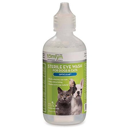 Sterile Pet Eye Wash For Dogs & Cats - Cleans & Soothes Pet's Irritable Eyes