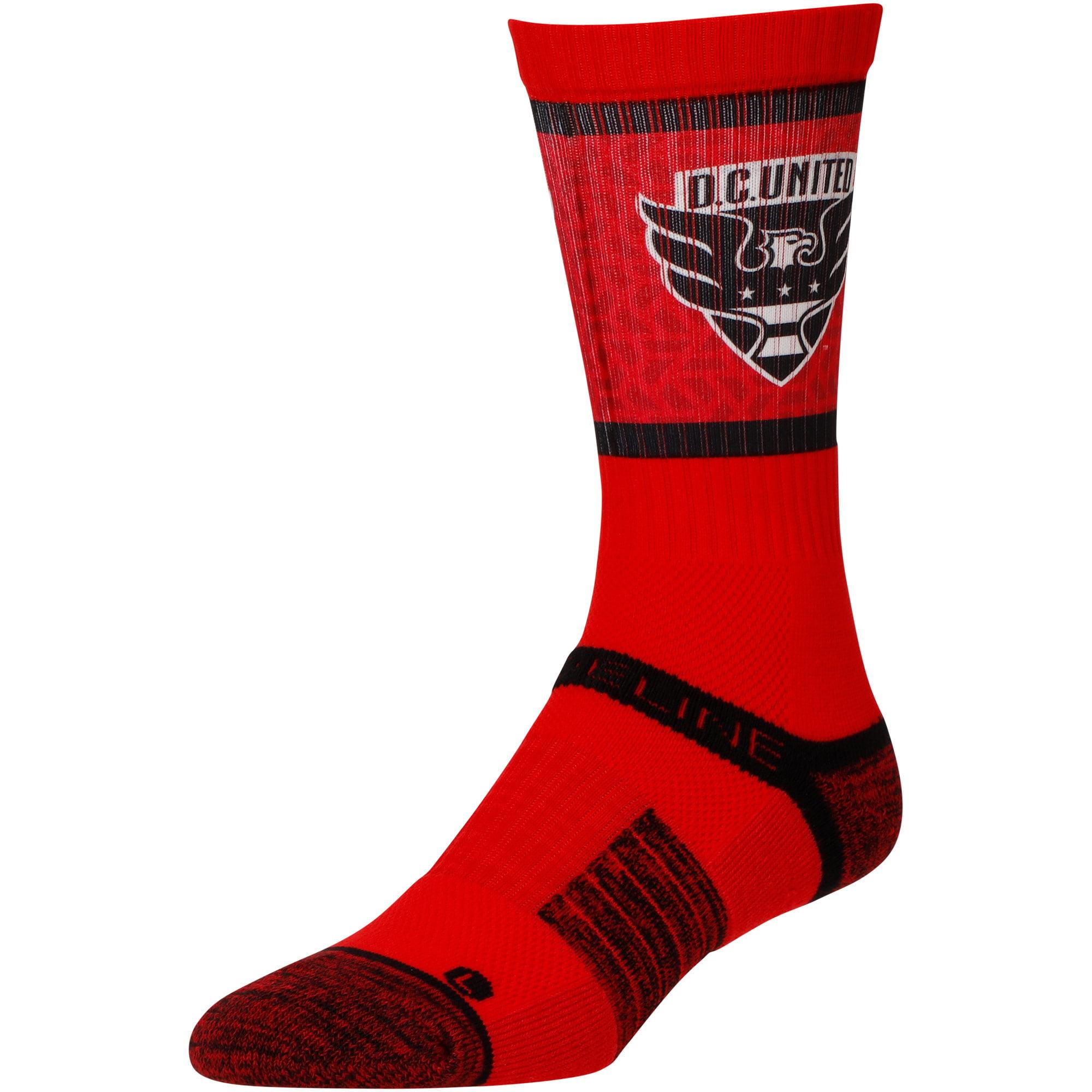 D.C. United Team Primary Logo Crew Socks - Red - M/L