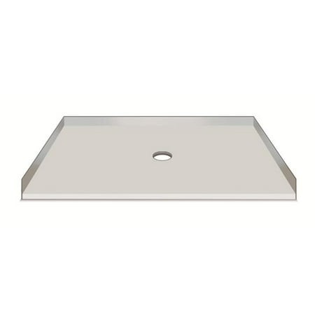 American Bath Factory S54361TP-C 54 x 36 in. Single Ready To Tile Shower Pan, 1 in. Thresholds (54 Shower Pan)