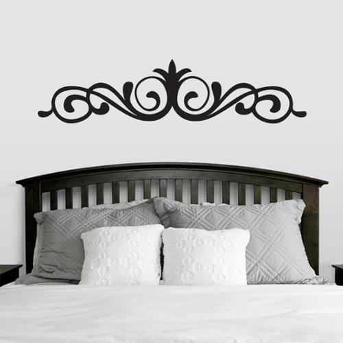 Sweetums Elegant Accent Scroll Wall Decal (42-inch x 10-inch)