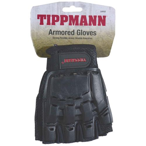 Tippmann Sports Armored Half Finger Paintball Airsoft Gloves