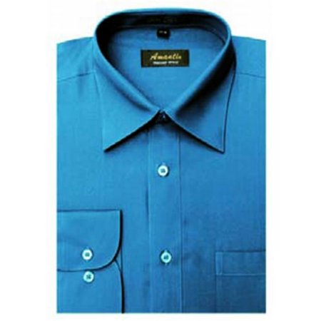 Amanti cl1013 20x34 35 amanti mens wrinkle free ocean blue for 20 34 35 dress shirts