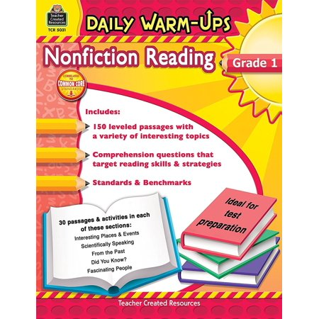 Daily Warm Ups  Nonfiction Reading  Grade 1  176 Pages  5031   Correlated To Common Core Standards  By Teacher Created Resources