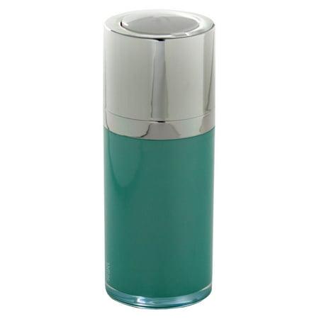 24a32cc030ed Airless Twist Top Teal Blue Pump Bottle - 15 ml / 0.5 oz (3 pack) + Clear  Travel Bag