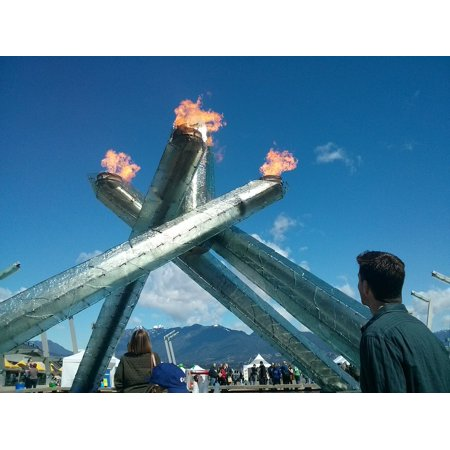 LAMINATED POSTER Olympic Torch Cauldron Vancouver Olympics Canada Poster Print 24 x 36 - Olympic Torch Prop