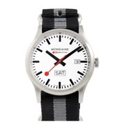Sport Day Date White Dial Grey and Black Nylon Mens Watch A6673030816SNB