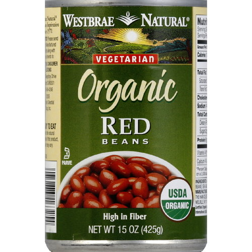 Westbrae Natural Red Beans, 15 oz (Pack of 12)
