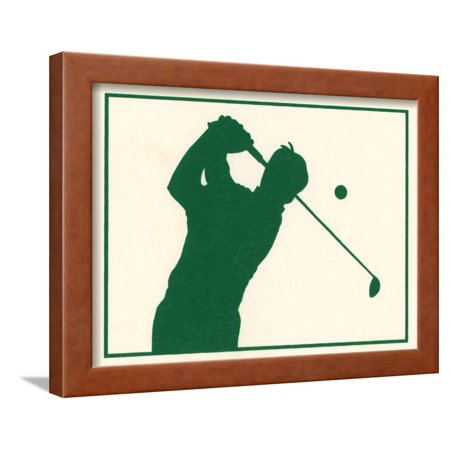 Male Golfer Framed Print Wall Art By Crockett