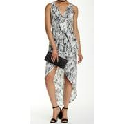 ASTR NEW White Black Printed Women's Size Small S Asymmetrical Dress