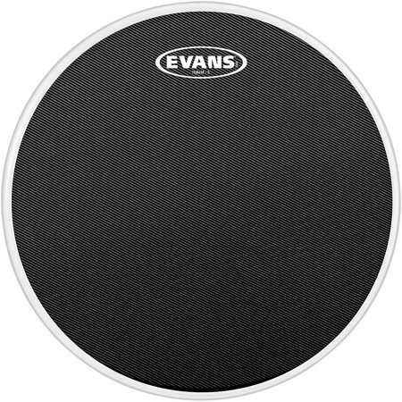 Evans Hybrid-Soft Marching Snare Drum Batter Head Black 14 in. Black Marching Snare Drum