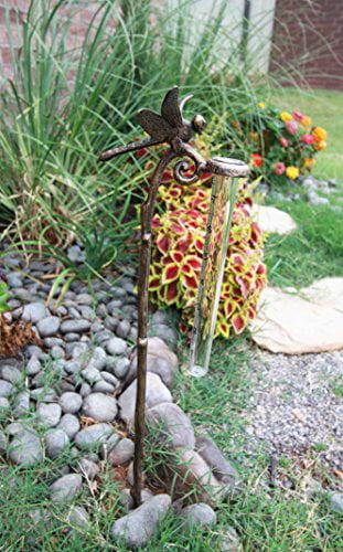 Atlantic Collectibles Aluminum Tropical Dragonfly Rain Gauge Garden Stake by Atlantic Collectibles
