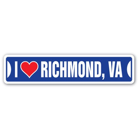 I LOVE RICHMOND, VIRGINIA Street Sign va city state us wall road décor gift