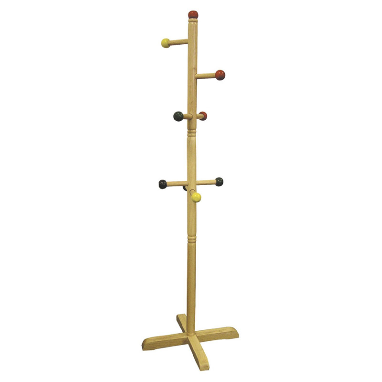 Ore International Inc. Kid's Primary-Color 8-Peg Coat Rack by Generic
