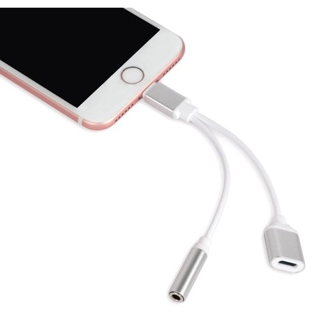 new york 5a090 0a1df 2_in_1 Lightning and 3.5mm Headphone Jack Adapter for iPhone 7
