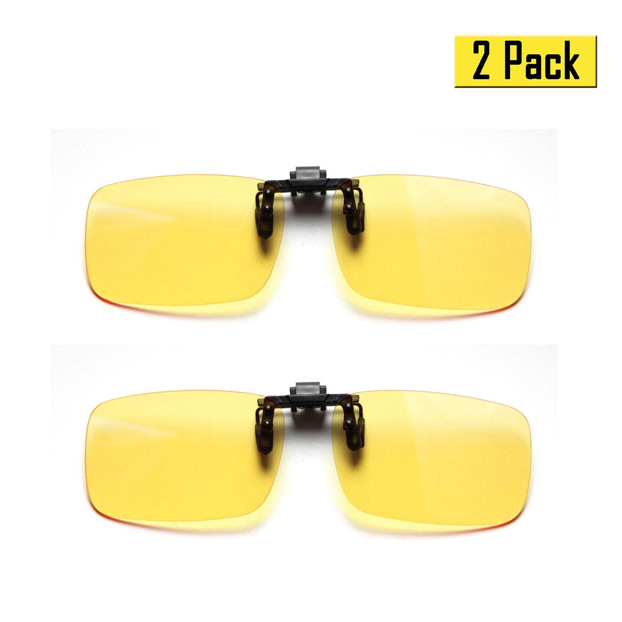 Cyxus Clip-On Blue Light Blocking Computer Glasses, Reduce Eye Strain UV400, 2 Standard Size in a pack