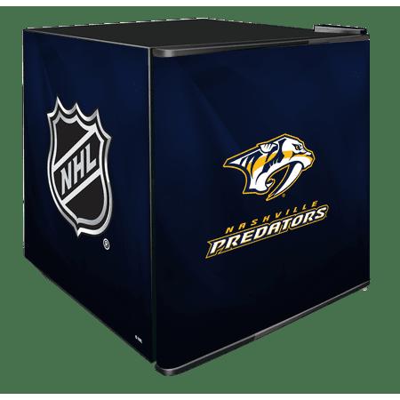 NHL Solid Door Refrigerated Beverage Center 1.8 cu ft Nashville Predators by