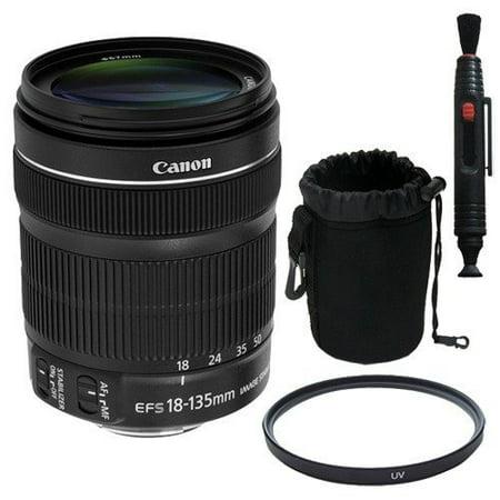 a291d0e64557f Canon EF 18-135mm f 3.5-5.6 IS STM Lens + 67mm UV Filter + Lens Pen Cleaner  + Deluxe Lens Pouch Bulk Packaging Saver Bundle - Walmart.com