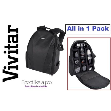 Pro Deluxe Vivitar Backpack Case Carrying Bag For Canon VIXIA HF R80 R82