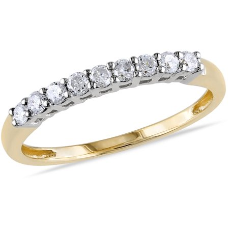 natural semi real diamond bands half gold white wedding etsy market carat eternity band il
