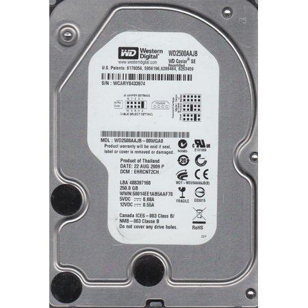 WD2500AAJB-00WGA0, DCM EHRCNT2CH, Western Digital 250GB IDE 3.5 Hard Drive