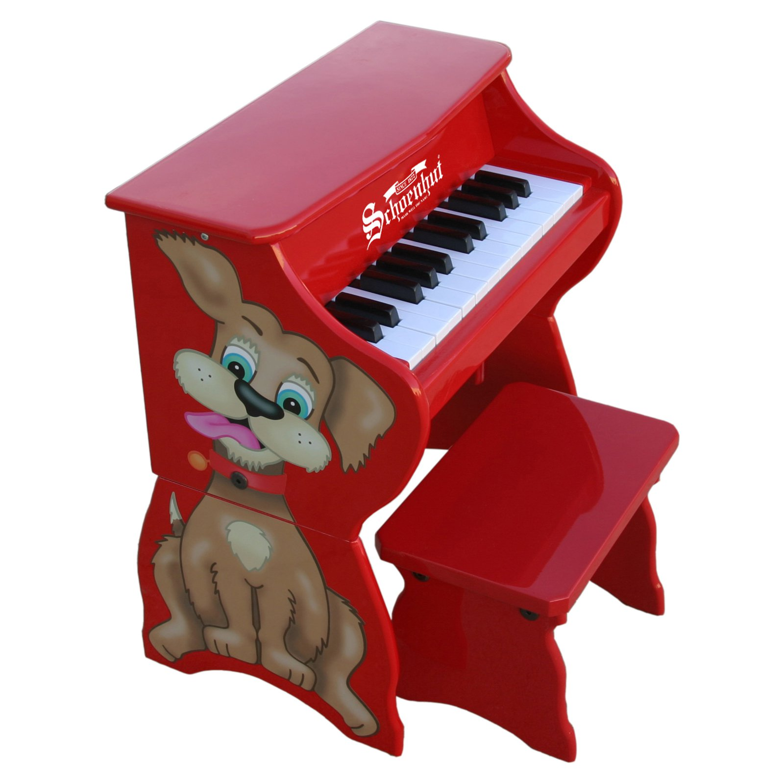 Schoenhut 9258D 25 Key Dog Piano w  Bench