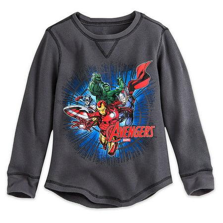 9fc96f7fdc9 Disney Store - Disney Store Marvel Avengers Gray Long Sleeve Thermal ...