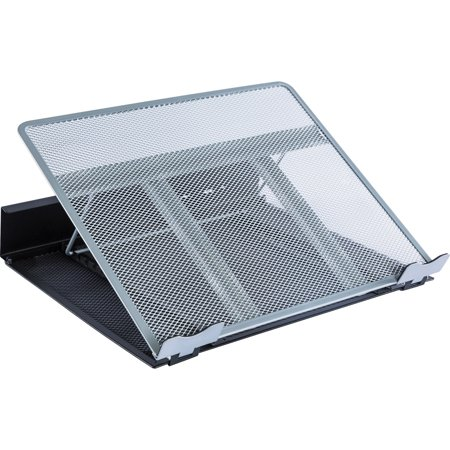 Laptop Stand Lightweight 8 Position - Lorell, LLR80630, Angled Laptop Stand, 1 Each, Silver,Black