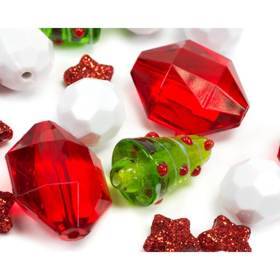Tis The Season Strand-Red & White Tree & Star 17/Pkg