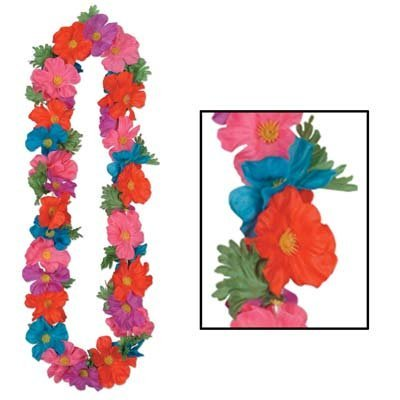 Silk 'N Petals Tropical Lei 48 Inch Party Accessory (1 Count) (1/pkg) Pkg/6, Create Stunning Eye-Catching Luau costumes attire By - Speakeasy Party Attire