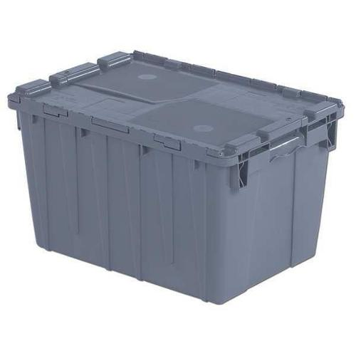 Orbis 70 lb Capacity, Attached Lid Container, Gray FP182 Gray