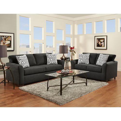 Roundhill Furniture Mazemic Sofa and Loveseat Set