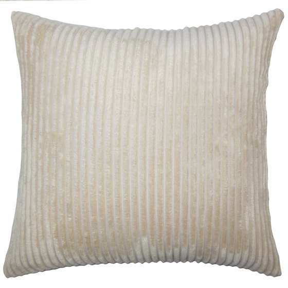 The Pillow Collection Calvine Solid Floor Pillow Natural - Walmart.com