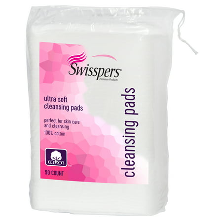 Swisspers Premium 100% Cotton Cleansing Pads, 50 (Cotton Cleansing Pads)