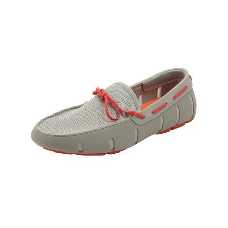 White Designer Shoes (SWIMS Men's Braided Lace Loafer)