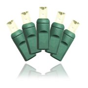 Winterland C-25MMWW-6G Commercial Grade Conical 5 mm.  Warm White LED On Green Wire
