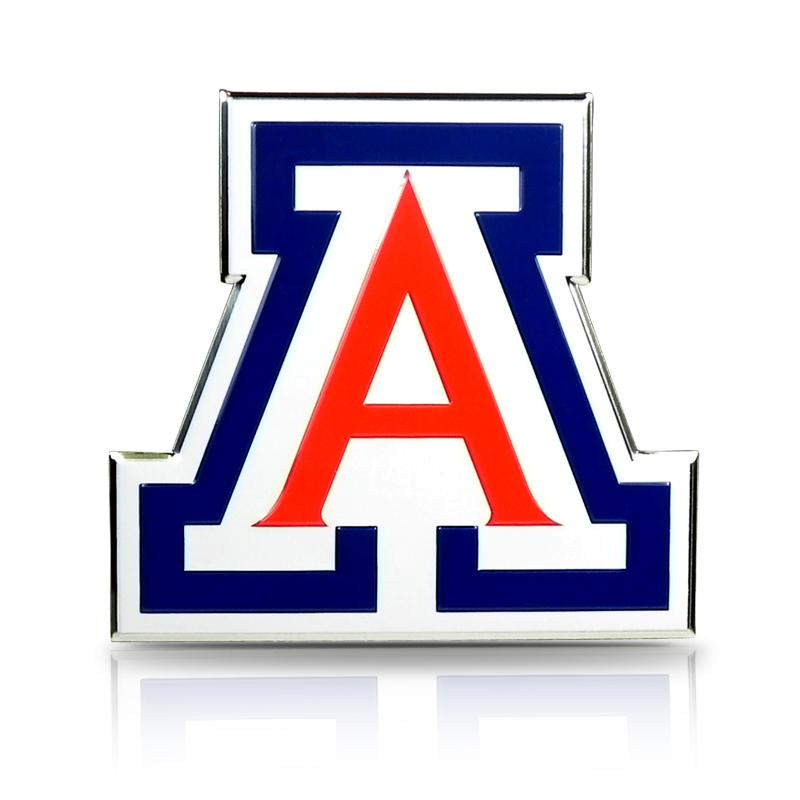 NCAA University of Arizona Aluminum Die Cut Color Automobile Emblem Decal