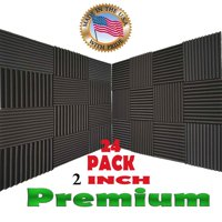 "24 Pack Acoustic Panels Studio Soundproofing Foam Wedges 2"" X 12"" X 12"""