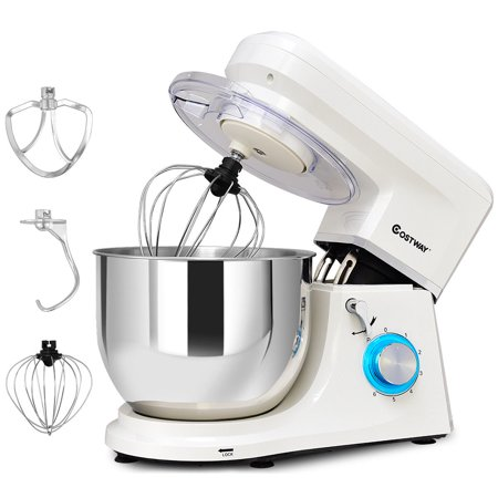 Costway Electric Food Stand Mixer 6 Speed 7.5Qt 660W Tilt-Head Stainless Steel (Best Breville Food Mixer)