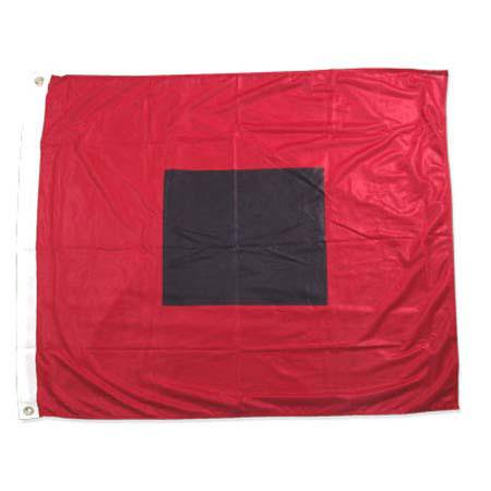 36in Polyester (Hurricane warning flag 36in x 36in Super Knit Polyester)