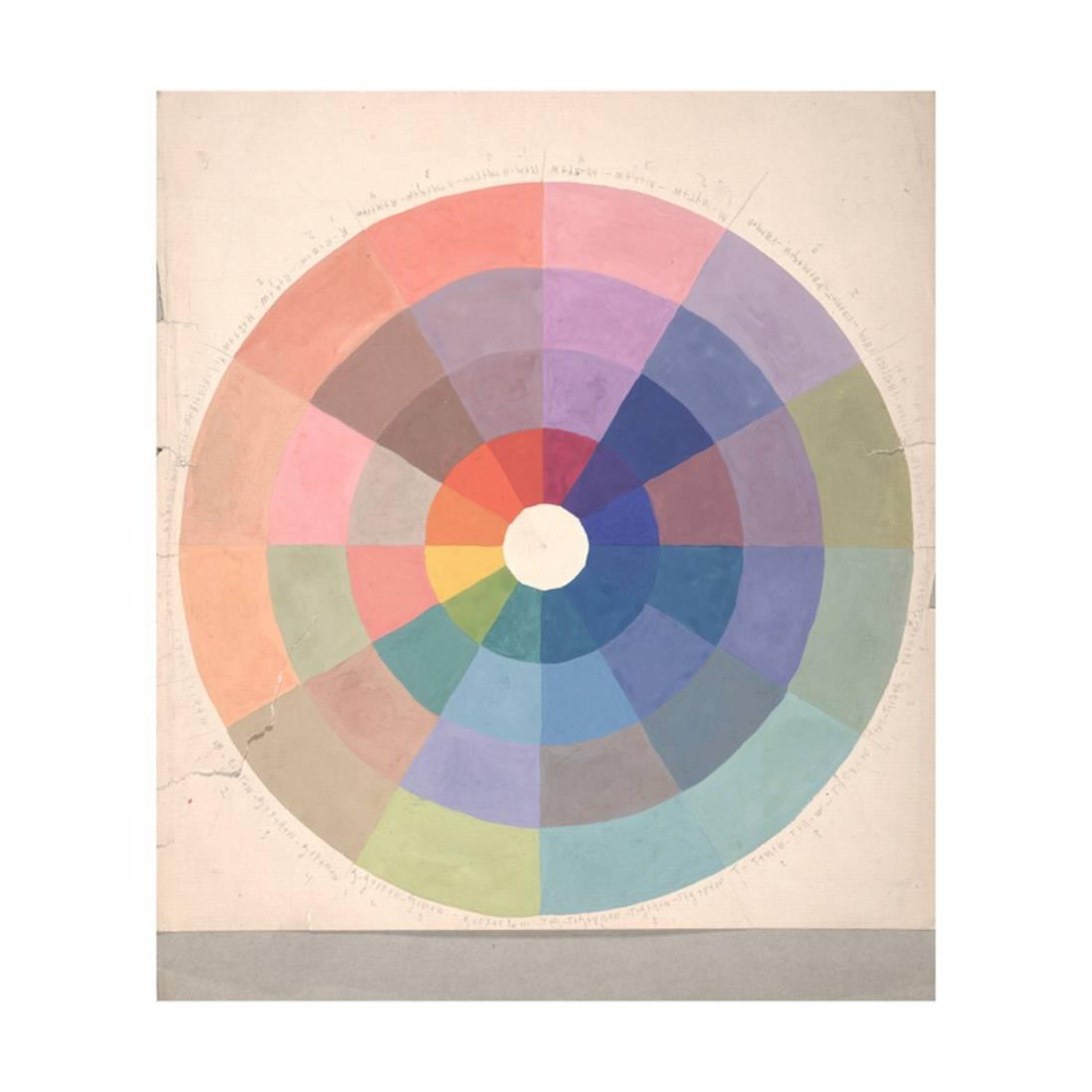 Rudolph Schaeffer Color Wheel Archive Of American Art Print