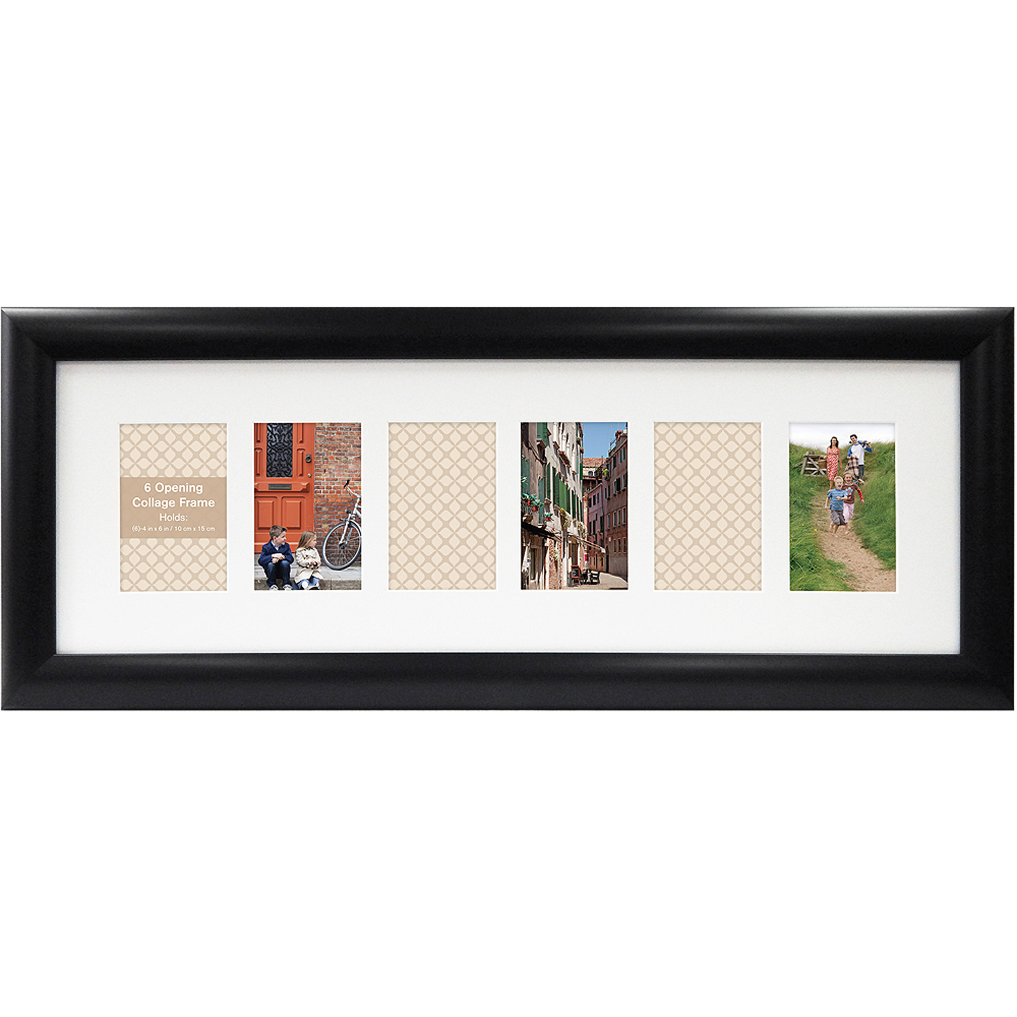 6-Opening Collage Frame, Black - Walmart.com