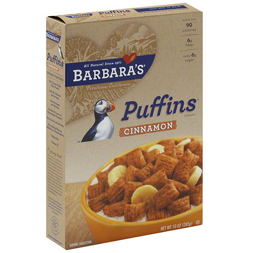 Barbara's Puffins Cinnamon Cereal, 10 oz (Pack of 12)