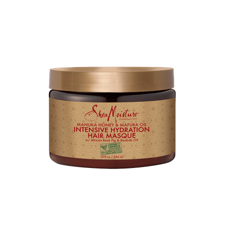 Manuka Honey & Mafura Oil Intensive Hydration Hair Masque - Deeply Conditions Dry, Damaged Hair - Sulfate-Free with Natural Organic Ingredients - Moisture Infuse Curly, Coily Hair (12 oz) - Masques Horreur-halloween
