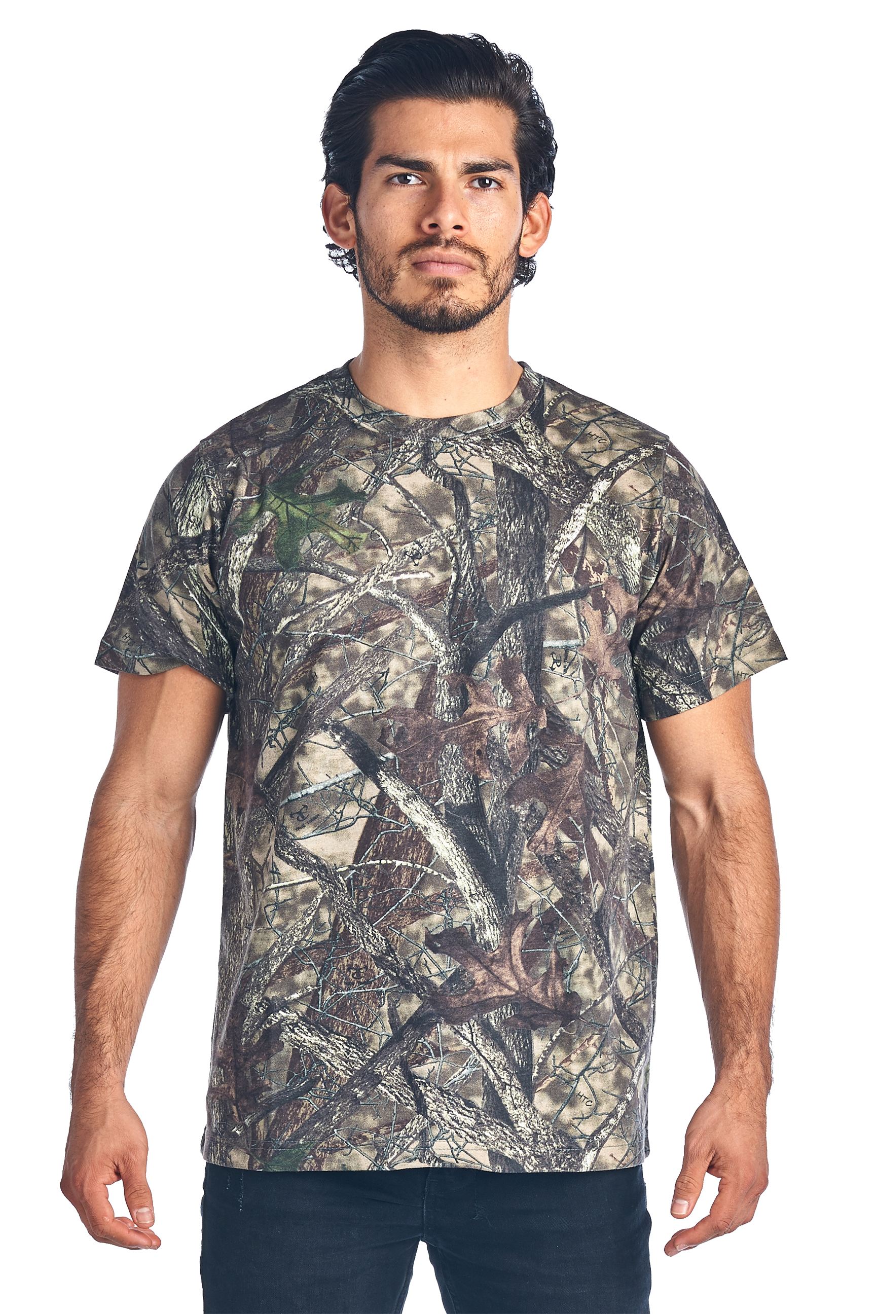 Camo Hunting Short Sleeve T-Shirt Camouflage Authentic True Timber S-5XL by